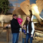 Owners Robert and Laurie Carr with their children at Cabela's 2011