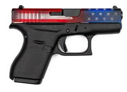 Glock 42 Cerakote American Flag Slide