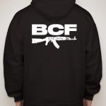 blue cord firearms sweatshirt - back